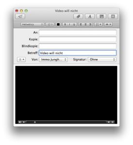 Video schwarz in OS X Mail