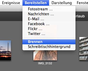 iPhoto_Bereitstellen_Brennen